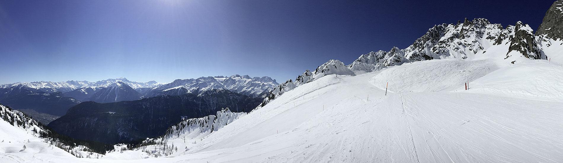 Les pistes de ski de la creusaz