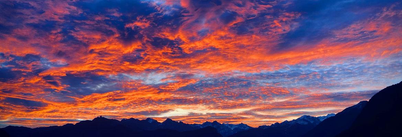 Ciel d'automne sur Salvan